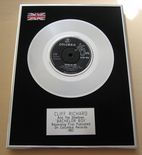 CLIFF RICHARD AND THE SHADOWS - BACHELOR BOY Platinum Single Presentation DISC